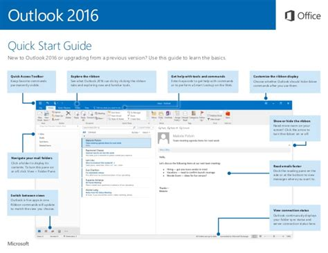 Office 2016 Quick Start Guide Outlook