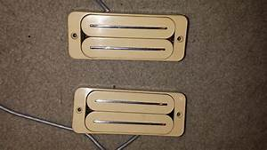 Bill Lawrence P90 L550 70s  80s Creme Humbucker Rail