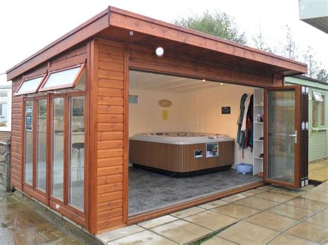 Summer House Hot Tub Room  Bakers Timber Buildings
