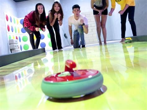 curling floor party room whack mole interactive game blow soccer atria albums darts
