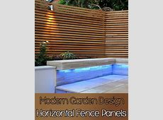 Quiet CornerHorizontal Fence Panels Modern Garden Design