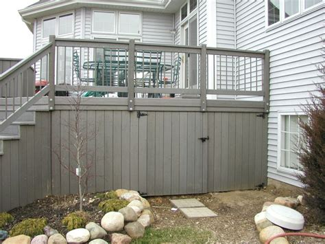 Inexpensive Deck Skirting Ideas by 17 Best Ideas About Deck Storage On