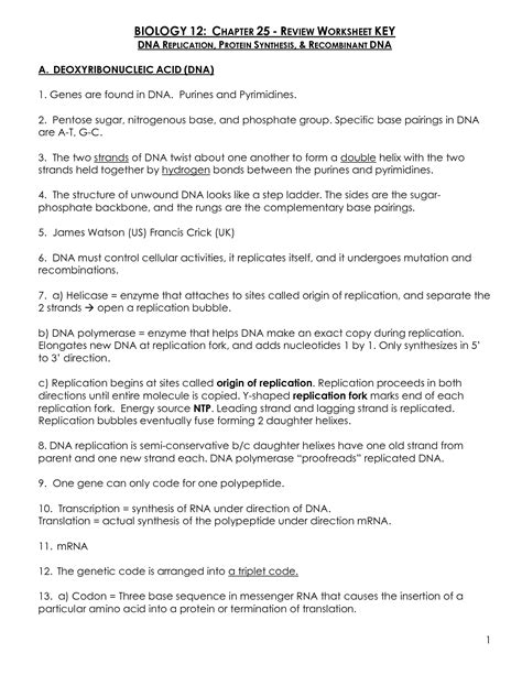 16 Best Images Of Protein Biology Worksheet  Protein Synthesis Worksheet Answers, Dna Rna