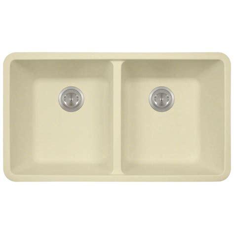 composite kitchen sinks undermount polaris sinks undermount composite 32 1 2 in double bowl
