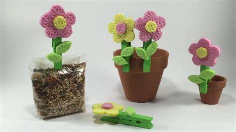 fiori di legno fai da te fiori fai da te con spugna da cucina idea creativa per