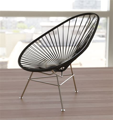 acapulco chair original acapulco chair black recycled pvc exclusive edition