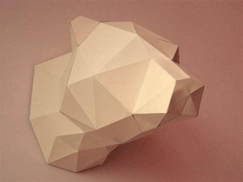 bear  papercraft model   template diy