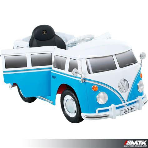 baquet siege voiture électrique pour enfant vw combi bleu 12volts