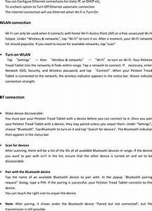 Peloton Interactive Tc1vs Peloton Tread Tablet User Manual