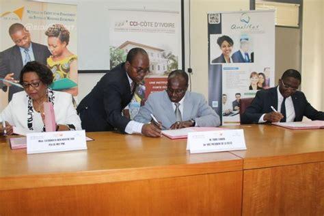 mutuelle des chambres de commerce et d industrie signature de convention entre mcf pme qualitas et la
