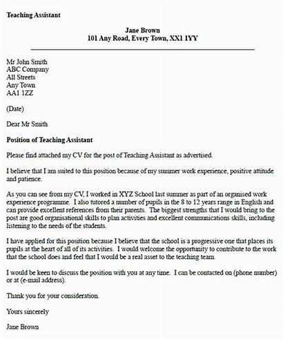 Letter Teaching Assistant Example Teacher Application Examples
