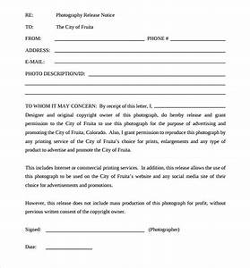 Sample print release forms 6 free documents in pdf for Free photography print release form template
