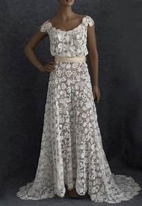 irish crochet lace wedding dress c1912 wedding pinterest With crochet lace wedding dress