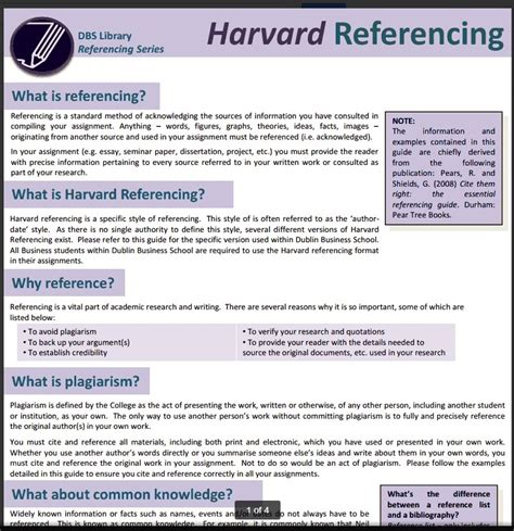 harvard style referencing template harvard style referencing libguides at dublin business school