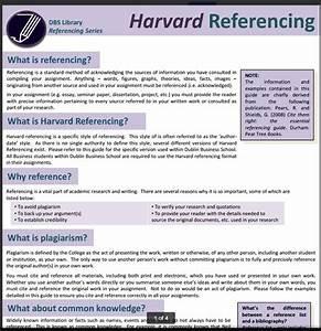 harvard style referencing libguides at dublin business With harvard style referencing template