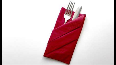 papierservietten falten bestecktasche servietten falten bestecktasche how to