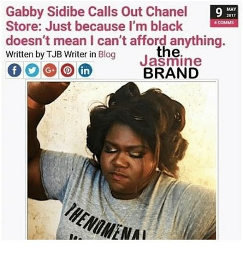 Gabourey Sidibe Memes - gabby sidibe calls out chanel may 9 2017 store just because i m black 4 comms doesn t mean i can