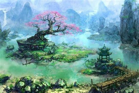 Asiatique Japon Architecture Bonsaï Illustration Fantasy