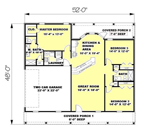 country sinks for sale ranch style house plan 3 beds 2 00 baths 1500 sq ft plan
