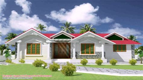 kerala style  bedroom house plans single floor youtube