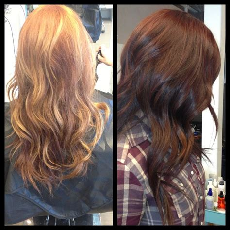 Brown To Hair Before And After Photos by 20 Best Images About Before After Color On
