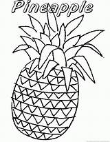 Pineapple Fruit Coloring Zoom sketch template