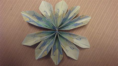 geld falten geldblume basteln deko ideen mit flora shop