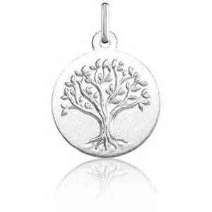 m 233 daille arbre de vie relief or blanc 18k argyor ocarat