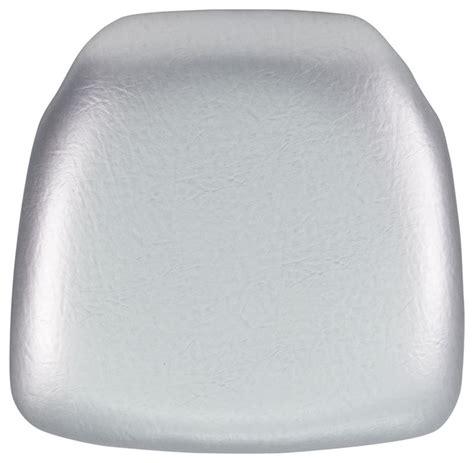 vinyl chiavari chair cushion silver modern seat