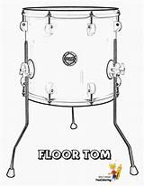 Coloring Drums Tom Printables Floor Drum Pounding Conga Printable Yescoloring Pages Musical Instrument Unique sketch template
