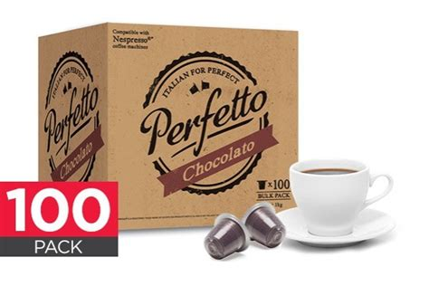 Pack Nespresso Au Bureau by 100 Pack Perfetto Nespresso Compatible Hot Chocolate Pods