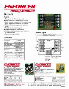 Enforcer Relay Module Sr-2224-c5 Manuals