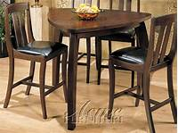 triangular dining table 5 Piece Miles Counter Height Dining Set with Triangular ...