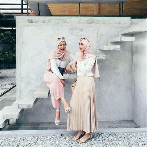 pin oleh chikita oviandara  hijab ootd hijab model