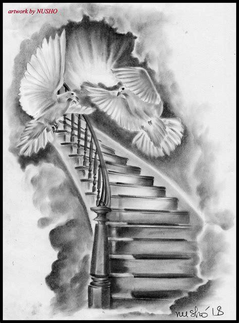 Stairways to Heaven   Heaven tattoos, Stairs to heaven
