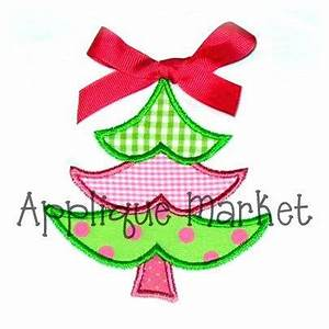 Machine Embroidery Design Applique Christmas Tree by