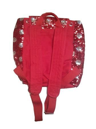 Disney Backpack Bag   Minnie Mouse Polka Dots   Sequined Red