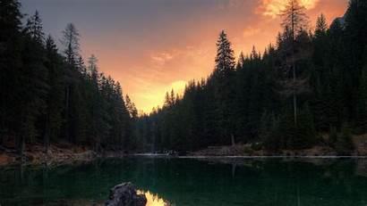 Lake Trees Italy 1080p Background Wildsee Pragser
