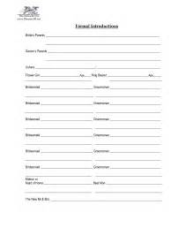 wedding reception itinerary 14 best images of wedding reception worksheet dj wedding