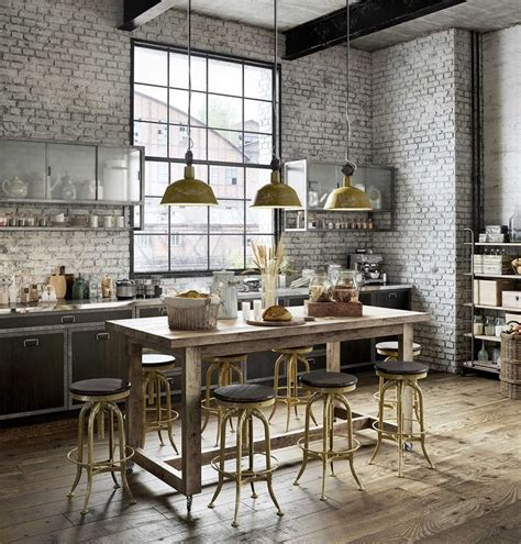 sototally industrial    loft home decor inspirations kueche esszimmer