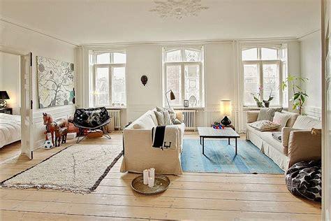 study  scandinavian style charming modern apartment  denmark