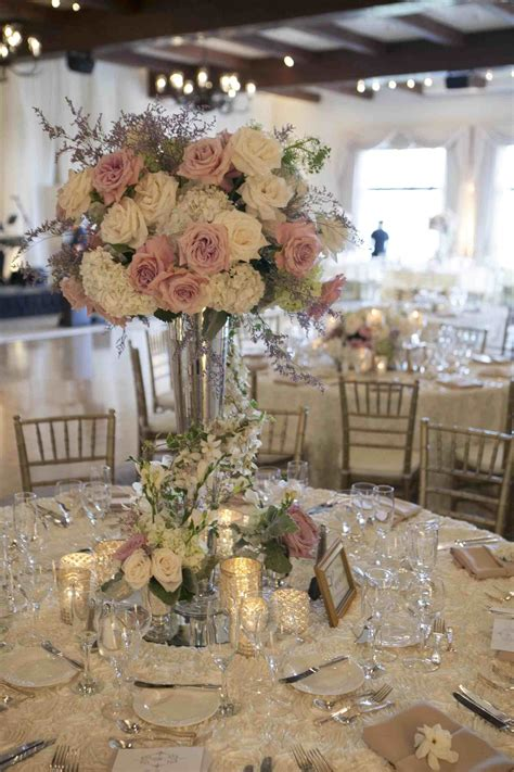 Elegant wedding centerpieces tall elegant wedding