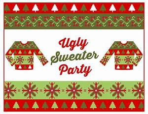 Free ugly sweater party printables catch my party for Ugly sweater christmas party invitations template