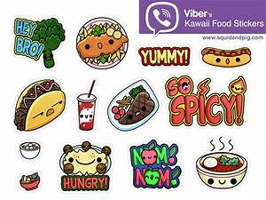 Kawaii Food Stickers for Viber 02 by Squid&Pig - Dribbble