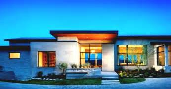 Home Design For 2017 Single Story Modern Home Design With Green View Landscape 2016 2017 House Stuff
