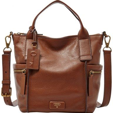 fossil emerson medium satchel brown amazoncouk shoes