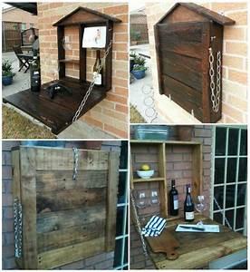 DIY Custom Pallet Patio Bar UsefulDIY com