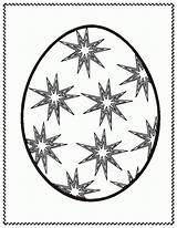 Egg Easter Coloring Templates sketch template
