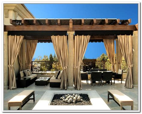 Outdoor Patio Curtains Canada by Best 14 Outdoor Pergola Curtains Ideas Pic Furniture