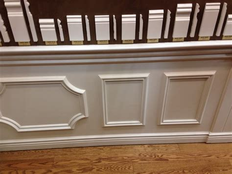 Wainscoting Frames For Wall by Real Wainscoting Or Faux Wall Frames Plus Chair Rail